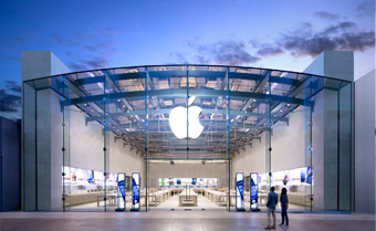 Das Apple Store in Santa Monica