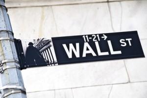 Wallstreet-Straßenschild - die FED mischt mit