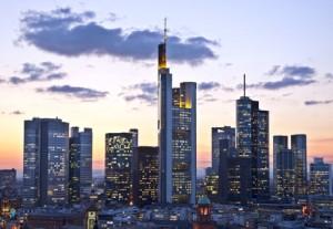 Skyline Frankfurt mit Deutsche Bank Gebäude