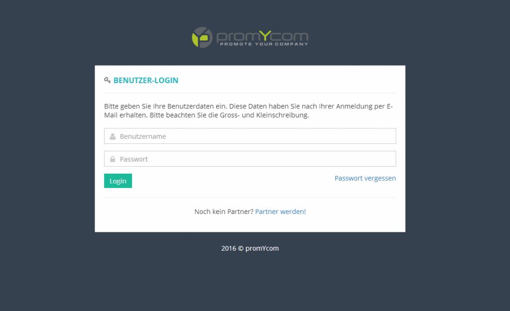 Gebe im Interface dein Benutzername und Login ein.